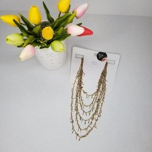 NWT Lefties Golden Layered Necklace
